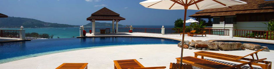 Each villa enjoys a private swimming pool